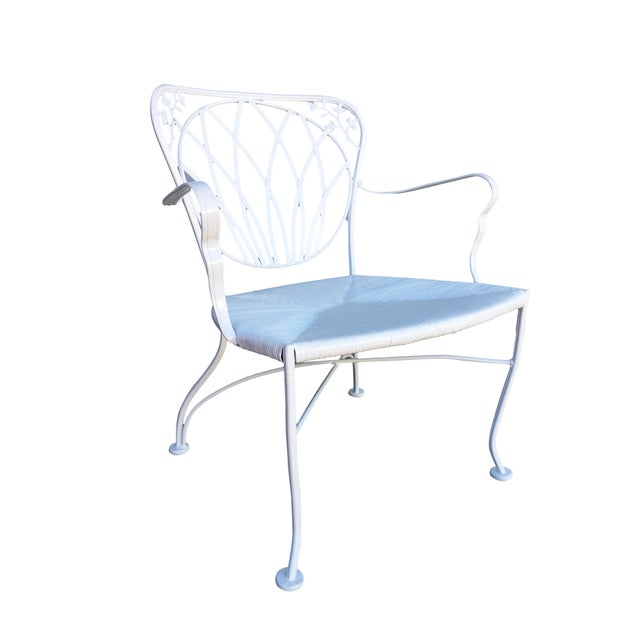 Metal Woodard Art Nouveau Iron Patio/Outdoor Lounge Chairs, 9 Available For Sale - Image 7 of 7