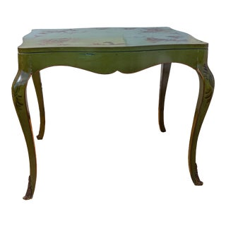 Vintage Chinoiserie Signed Side Table For Sale