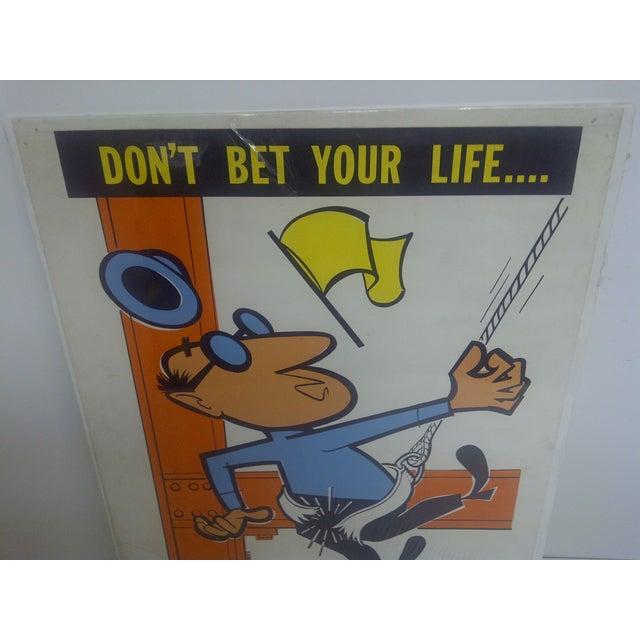 1956 Vintage US Steel Safety Poster - Image 3 of 9