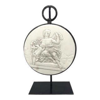 Jupiter and Venus Bas Plaster Relief With Custom Stand For Sale