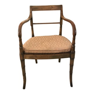 Early 19th Century Restored Wood Armchair For Sale