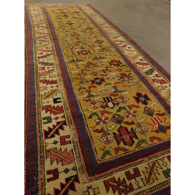 1900s Antique Caucasian Shirvan Runner For Sale - Image 12 of 13