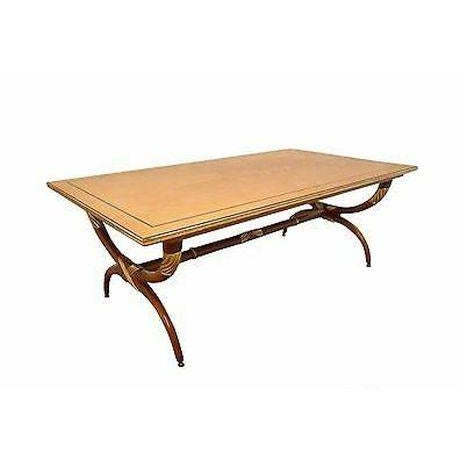 High Quality French Regency Directoire X Base Coffee Table W/ Gilt Accents For Sale - Image 11 of 11