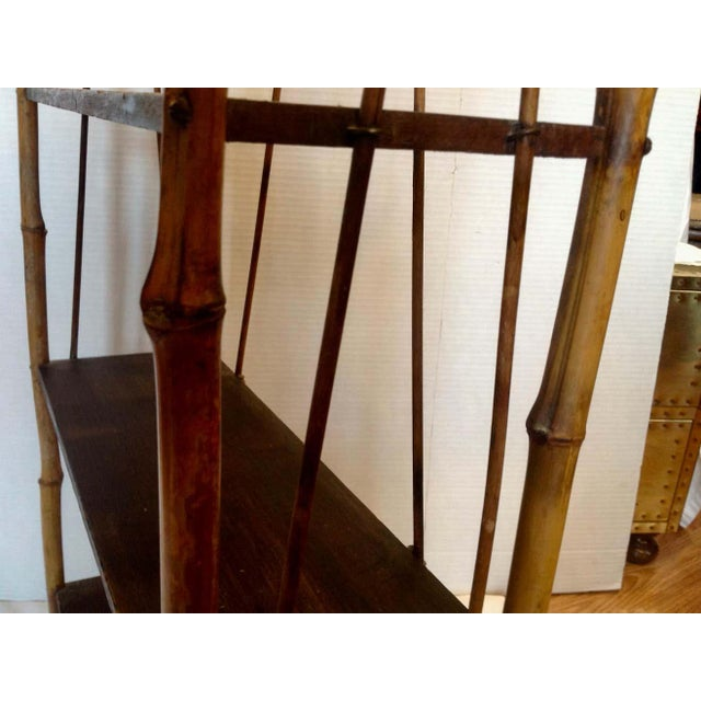 19th Century English Bamboo Bookstand / Étagère For Sale - Image 10 of 13