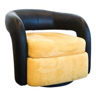 "Weiman ""Targa"" Swivel Lounge Chair For Sale"