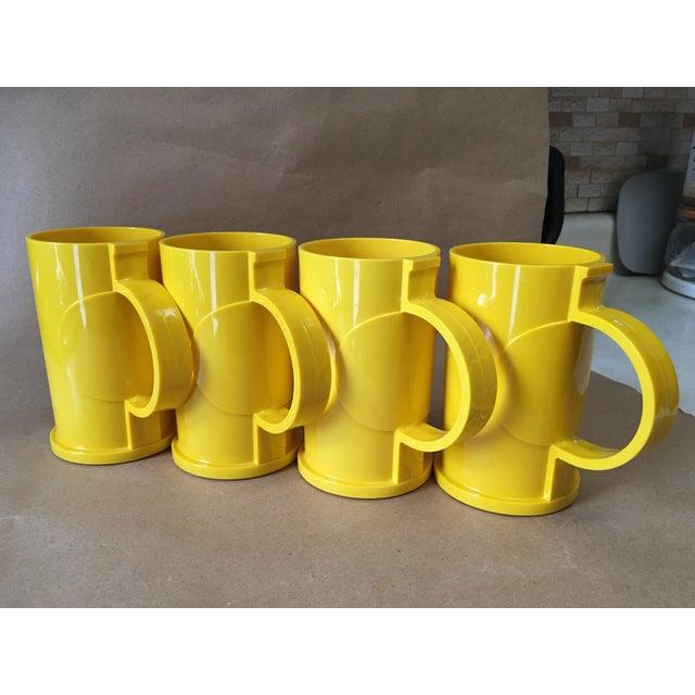 Yellow Vintage Dansk Designs Gunnar Cyren Yellow Handle Mugs - Set of 4 For Sale - Image 8 of 8