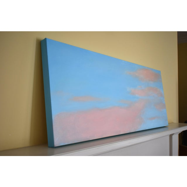 """Canvas Stephen Remick """"Morning Clouds"""" Contemporary Painting For Sale - Image 7 of 10"""