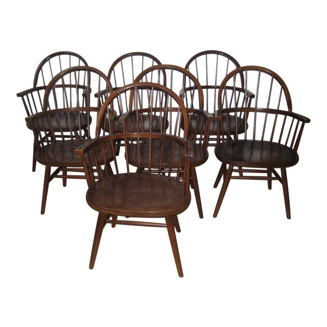 Mid-Century Boling Chairs - Set of 7 For Sale