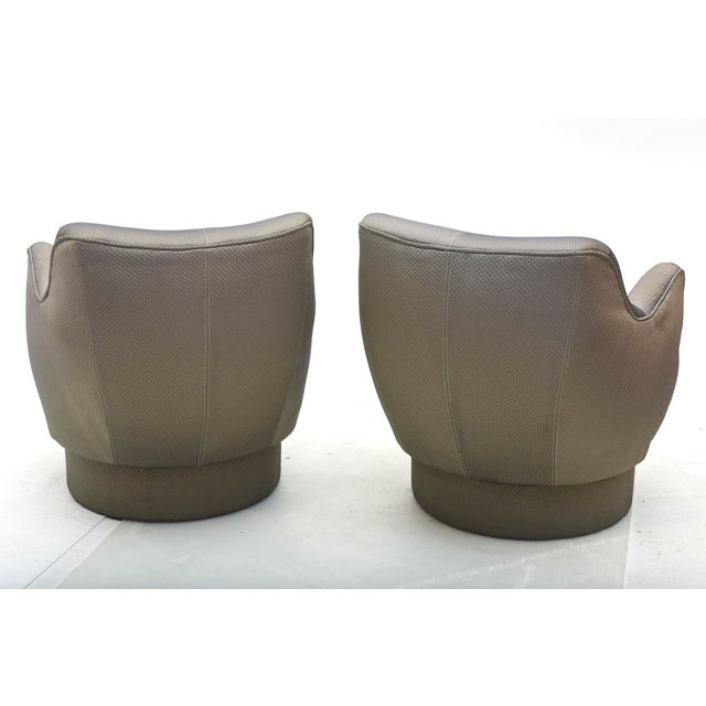 Gray Early and Rare American Modern Pair of Barrel Swivel Chairs, Vladimir Kagan For Sale - Image 8 of 10