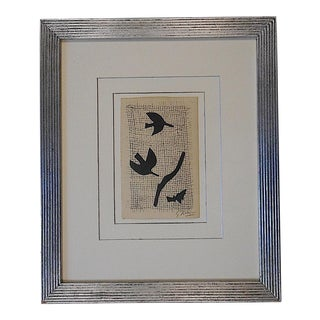 Pencil Signed Mid 20th C. Modern Ltd. Ed. Engraving- Edition of 50-Georges Braque