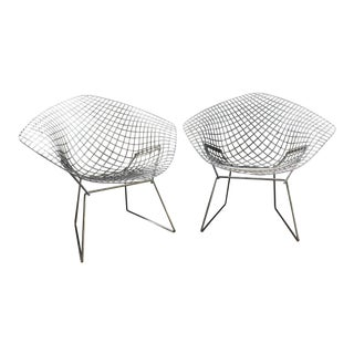Harry Bertoia Diamond Chairs- a Pair For Sale
