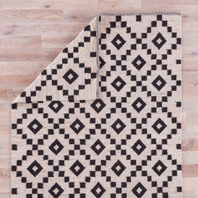 Jaipur Living Croix Handmade Geometric Black/ White Area Rug - 9′ × 12′ For Sale - Image 4 of 6