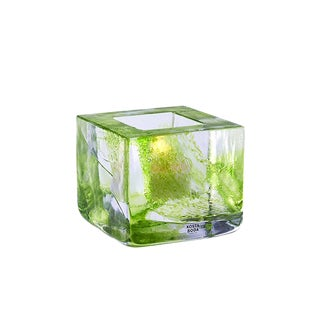 Swedish Modern Kosta Boda Lime Glass Votive Candleholder