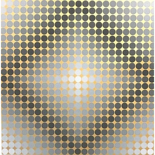 Vasarely 'Silver&Gold' Serigraph For Sale