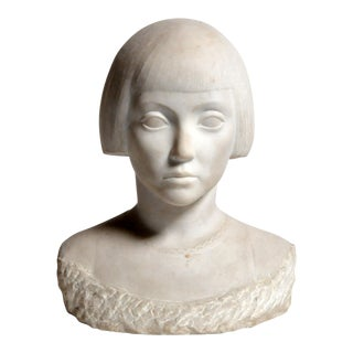 Marble Bust of a Young Woman from Italy