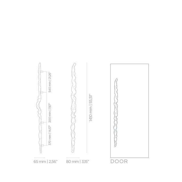 Not Yet Made - Made To Order Covet Paris Sonoran Ea1040 Door Pull For Sale - Image 5 of 6