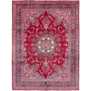 Late 20th Century Vintage Shoja Persian Rug- 9′4″ × 12′11″ For Sale
