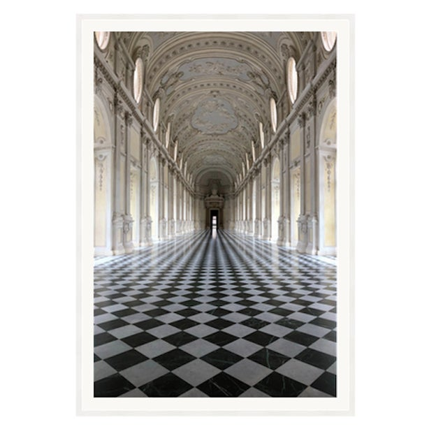 Symmetry in Versailles' by R. Rivera Framed photography 40 x 60 inches with an 2 inch white mat. Framed recessed on a 2...
