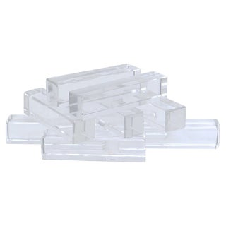 French St Louis Crystal Knife Rests, S/9 For Sale