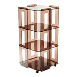 Image of 1970s French Lucite Bookcase in the Manner of Boris Tabacoff For Sale
