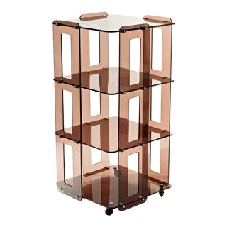 1970s French Lucite Bookcase in the Manner of Boris Tabacoff For Sale