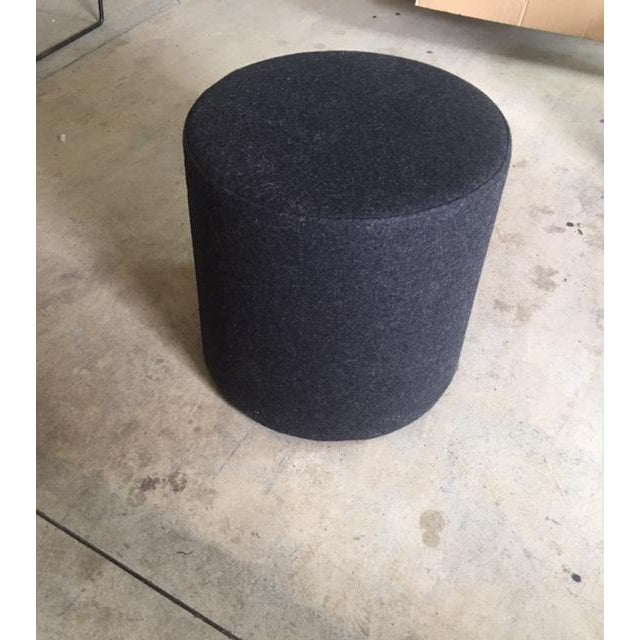 Modern BlueDot Small Bumper Ottoman For Sale - Image 3 of 5