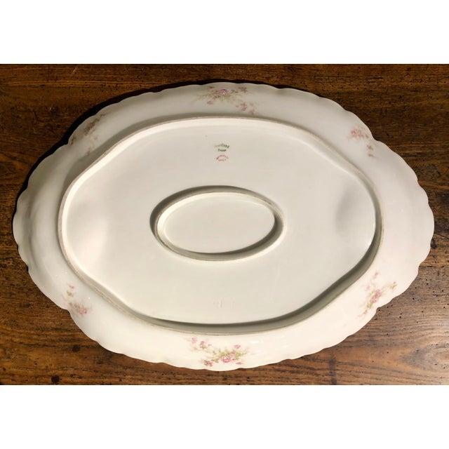 American Early 1900s Haviland Limoges Floral Gilt Meat Platter For Sale - Image 3 of 10