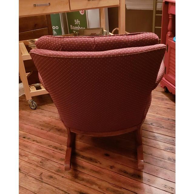 1960s Vintage Sam Moore Upholstered Rocking Chair For Sale - Image 4 of 10