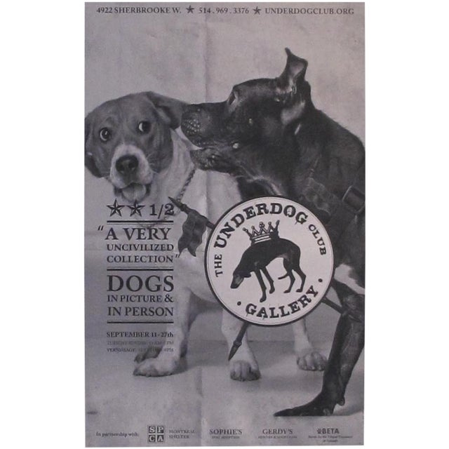 Large Underdog Rescue Poster, Civilized For Sale