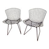 Image of 1990s Vintage Bertoia Side Chairs- a Pair For Sale