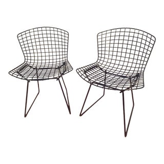 1990s Vintage Bertoia Side Chairs- a Pair For Sale