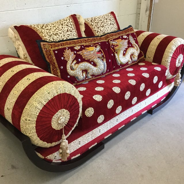 Moroccan Style Love Seat For Sale - Image 4 of 9