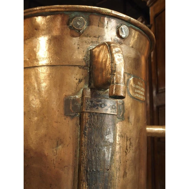 Antique Copper 50 Liter Wine Vessel from Carcassonne France, Circa 1850 For Sale - Image 4 of 9