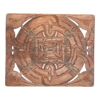 Painted Tribal Tray From Suriname For Sale