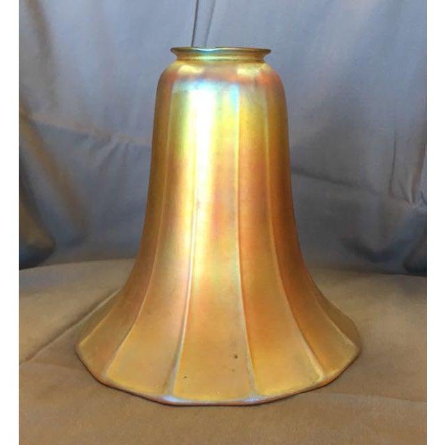 Steuben Antique Steuben Aurene Glass Shade For Sale - Image 4 of 8