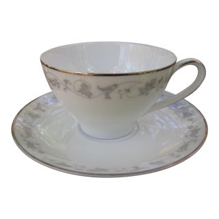 1960s Cottage Noritake Vivian Tea Cup and Saucer - 2 Pieces For Sale