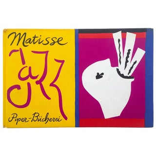 "Henri Matisse "" Jazz "" Rare 1st Edition Vintage 1960 Lithograph Print Museum of Modern Art Collector's Hardcover Art Book For Sale"