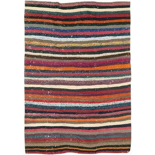 "Vintage Persian Flatweave Kilim Rug – Size: 5, 3"" X 7' 3"" For Sale"