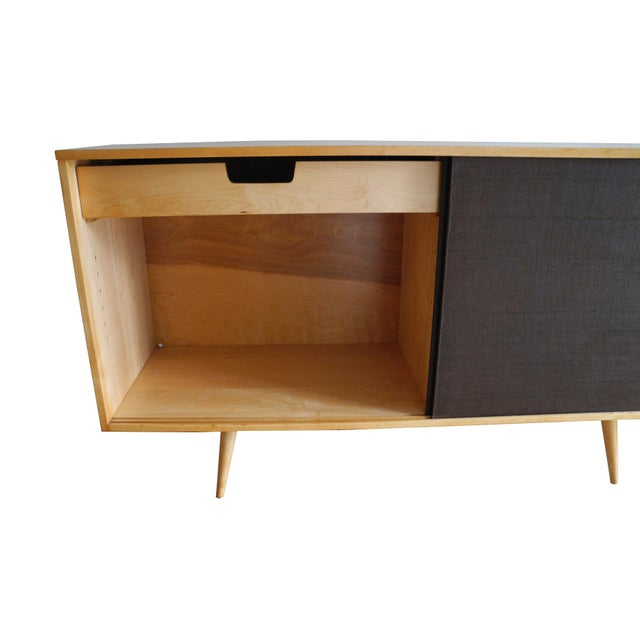 20th Century Modern Maple Storage Credenza / Sideboard With Shelf and Drawers by Paul McCobb For Sale - Image 11 of 13