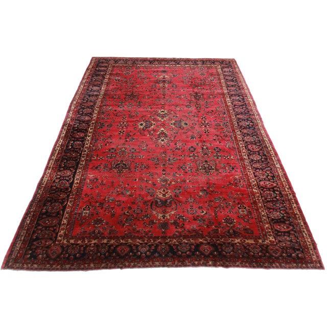 Rugsindallas Vintage Persian Design Wool Area Rug: RugsinDallas Antique Hand Knotted Wool Persian Yazd Rug