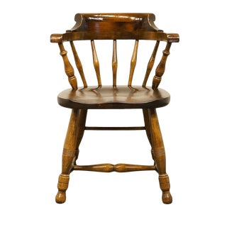 Late 20th Century Vintage Pennsylvania House Solid Pine Arm Chair For Sale