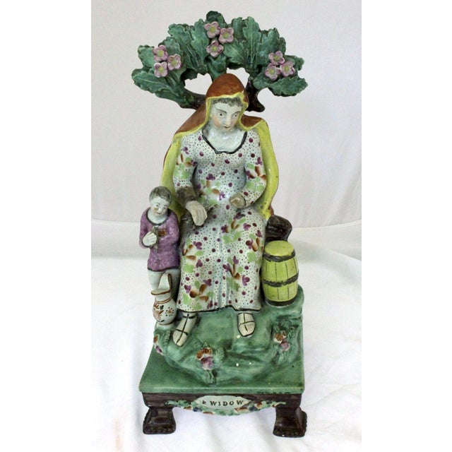 """Ceramic 1820s Staffordshire """"Widow"""" Figure For Sale - Image 7 of 9"""