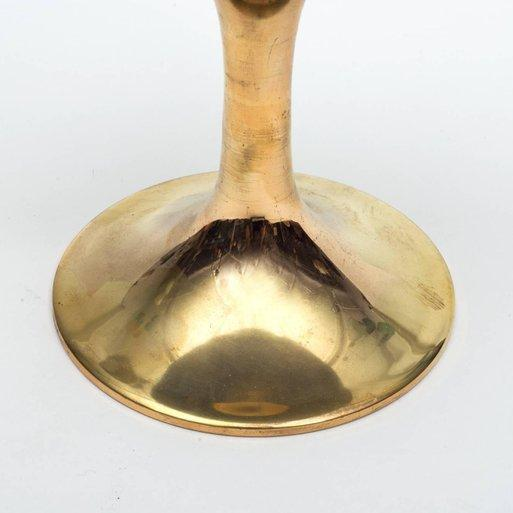 Hollywood Regency Aldo Tura Goatskin Parchment and Brass Ice Bucket, Italy, 1960s For Sale - Image 3 of 5