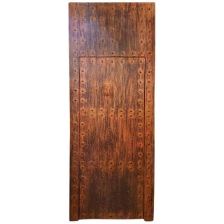Moroccan Old Orange Wooden Door For Sale