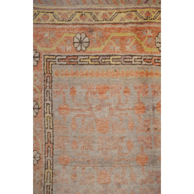 "Early 20th Century Samarkand Rug - 60"" x 116"" For Sale - Image 4 of 5"
