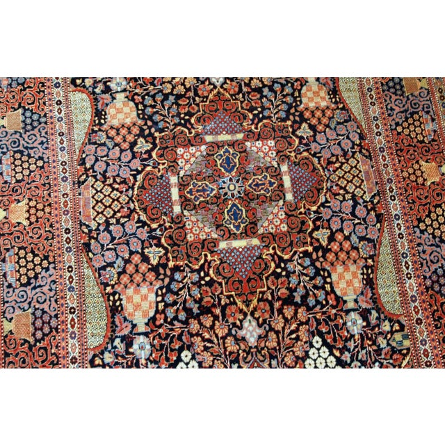 Late 19th Century 1880s, Handmade Antique Persian Dabir Kashan Rug 4.1' X 6.2' For Sale - Image 5 of 12