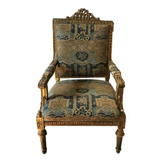 French Louis XV Style Arm Chair For Sale