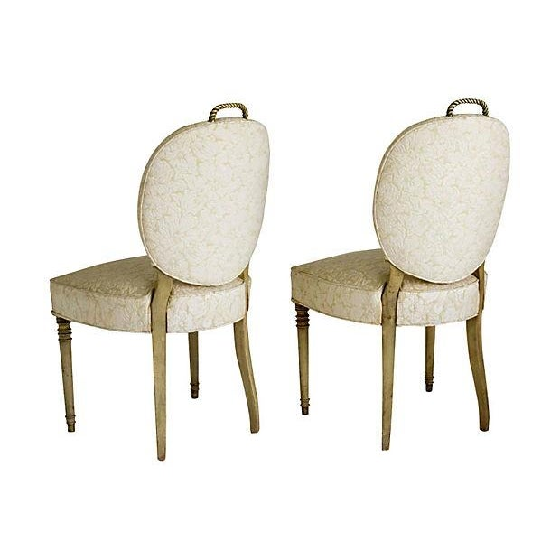 Edwardian Brass Rope Handle Chairs - A Pair - Image 7 of 7