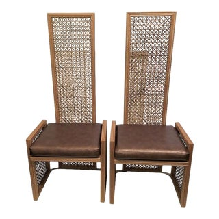 Vintage Viva Del Sud for Casa Bique Wicker Chairs -A Pair For Sale