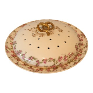 Vintage French Porcelain Handpainted Pancakes Server